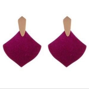 Kendra Scott Astoria Maroon Jade Earrings